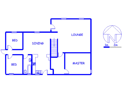 Floor plan of the property in Zeekoei Vlei