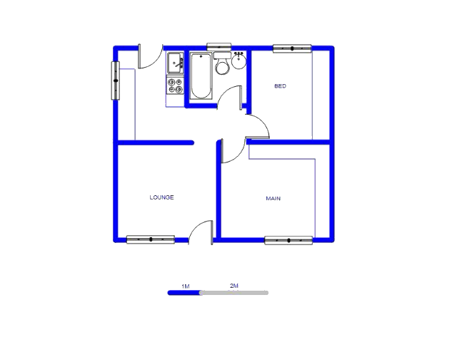Floor plan of the property in Winterveld