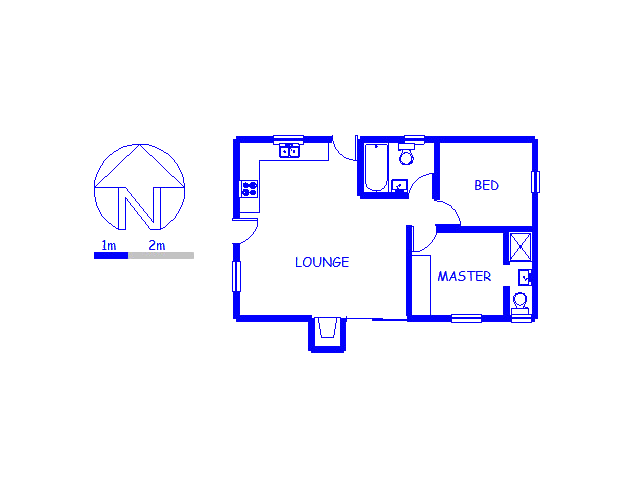 Floor plan of the property in St Helena Bay