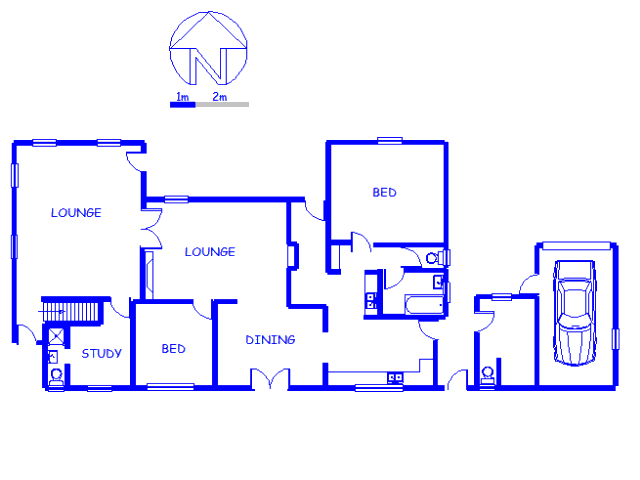 Floor plan of the property in Sunningdale - CPT