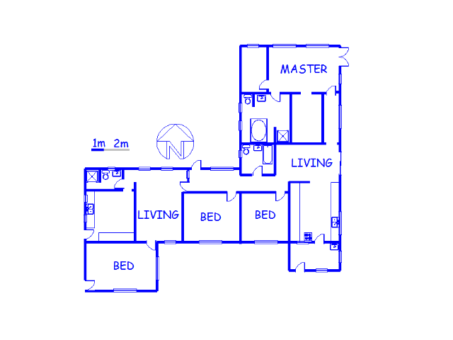 Floor plan of the property in Bon Accord