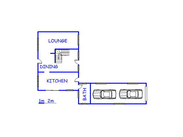 Floor plan of the property in Onrus Rivier (Onrus)