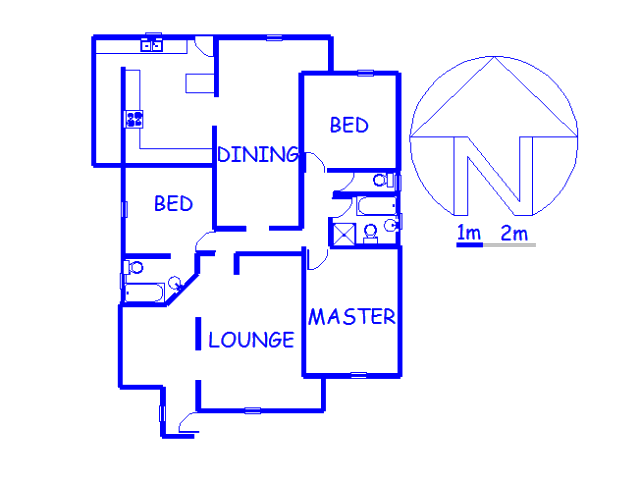 Floor plan of the property in Rosettenville
