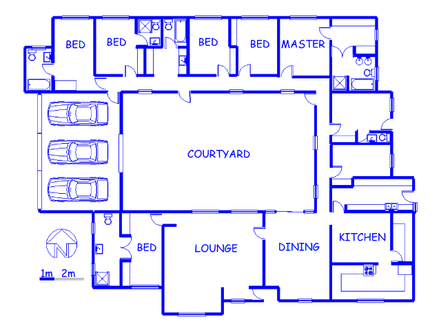 Floor plan of the property in Modimolle (Nylstroom)