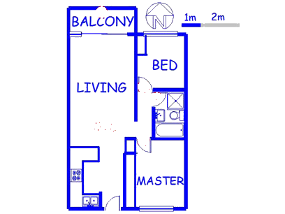 Floor plan of the property in Gordons Bay