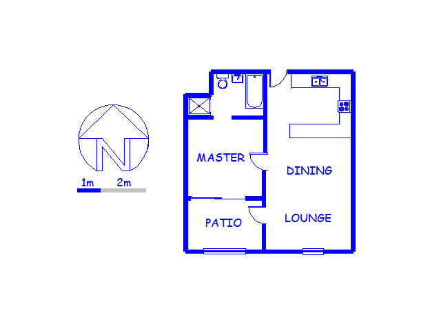 Floor plan of the property in Century City