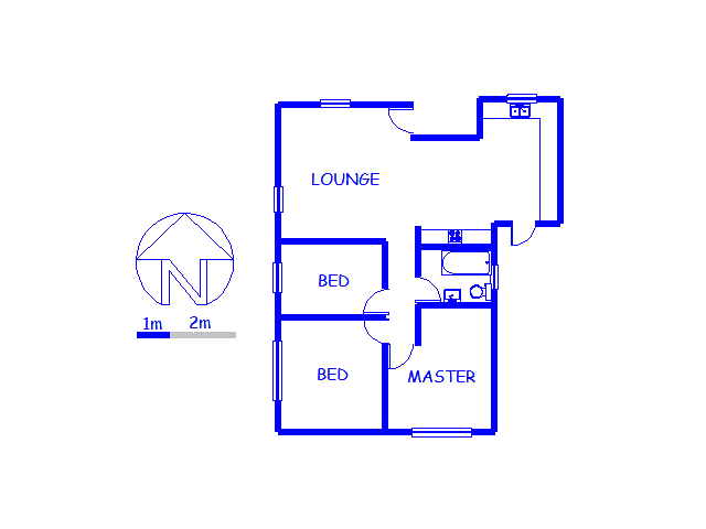 Floor plan of the property in Grassy Park