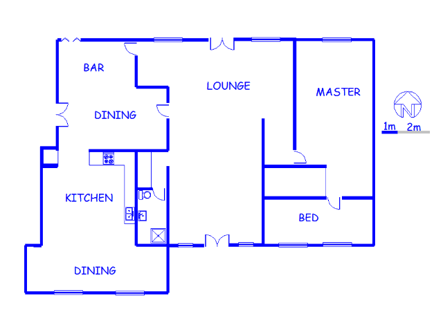Floor plan of the property in Phalaborwa
