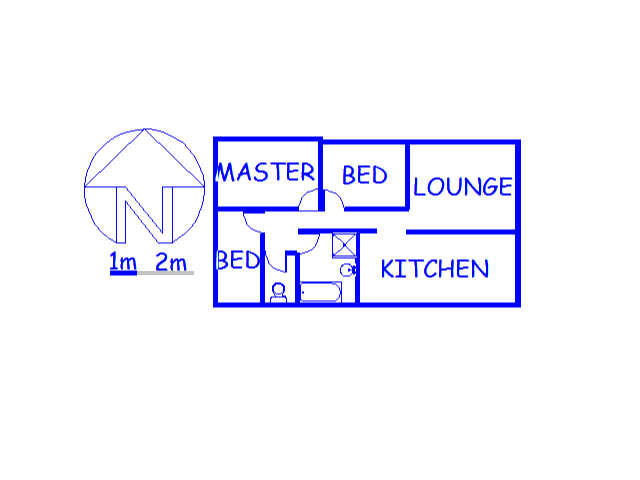 Floor plan of the property in Eden Park