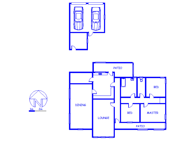 Floor plan of the property in Ceres