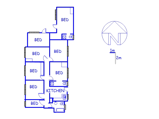 Floor plan of the property in Polokwane