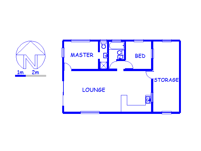 Floor plan of the property in Bettys Bay