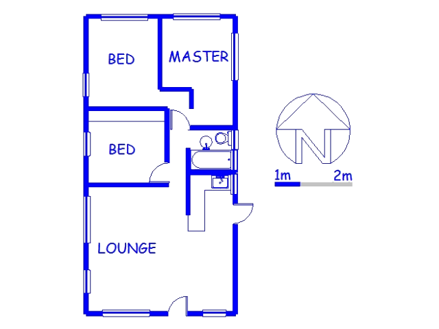 Floor plan of the property in Craigieburn
