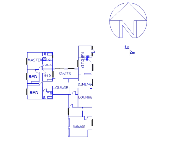 Floor plan of the property in Bela-Bela (Warmbad)