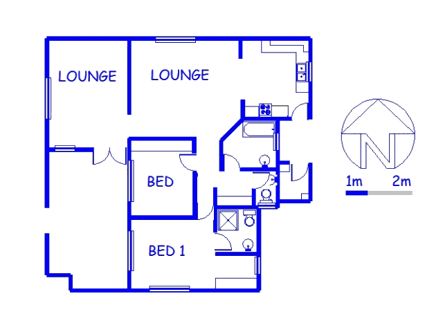 Floor plan of the property in Southport