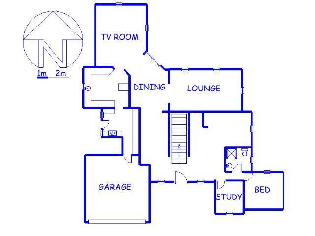 Floor plan of the property in Featherbrooke Estate