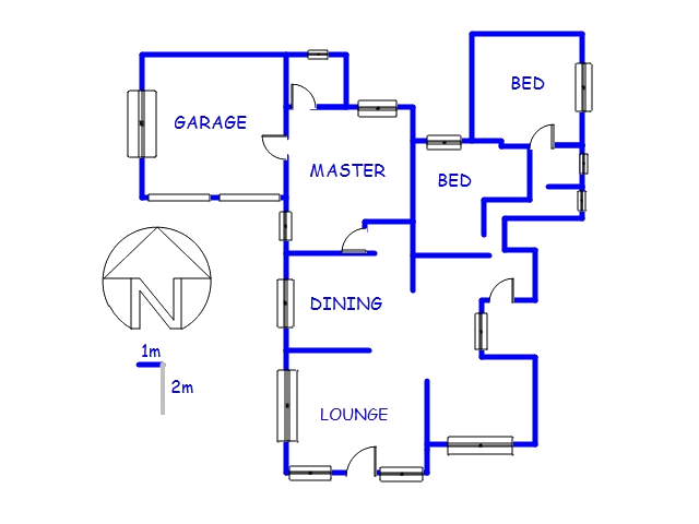 Floor plan of the property in Lady Selborne