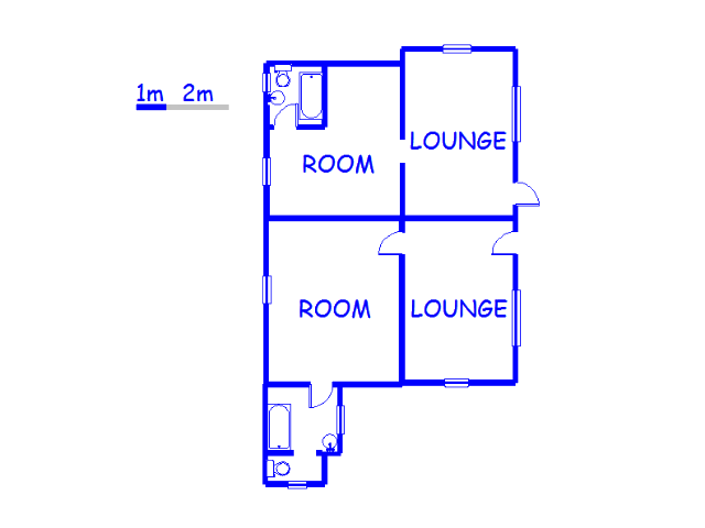 Floor plan of the property in Winburg