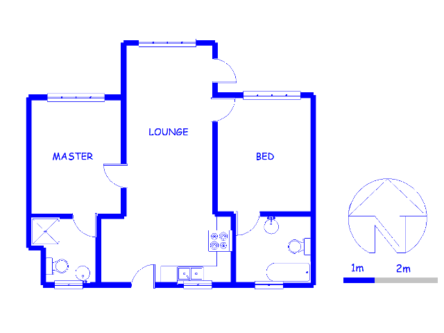 Floor plan of the property in Die Wilgers
