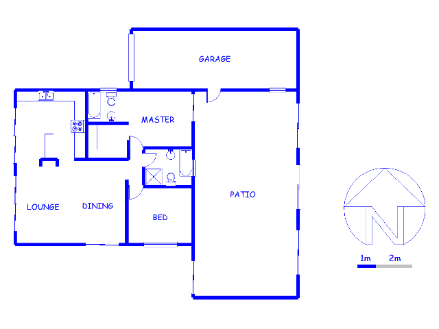 Floor plan of the property in Mamelodi