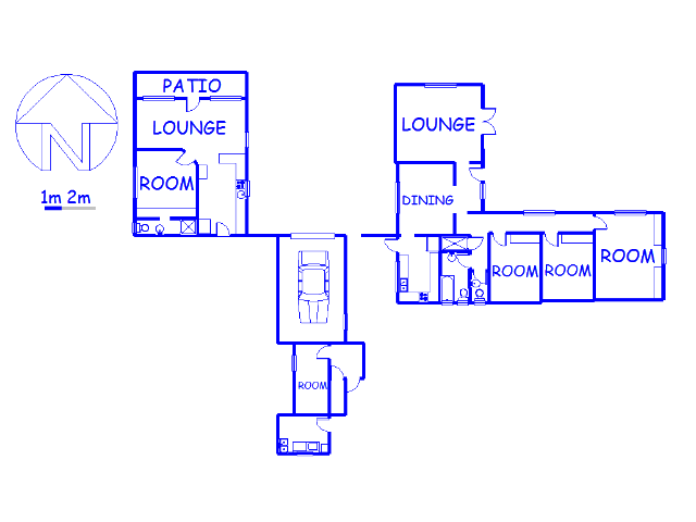 Floor plan of the property in Mount Edgecombe