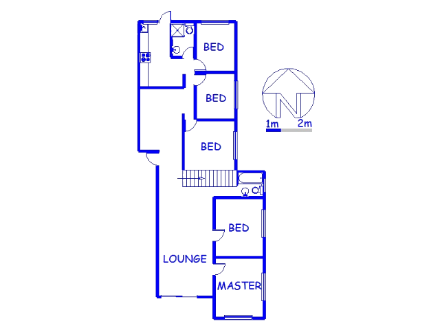 Floor plan of the property in Caneside