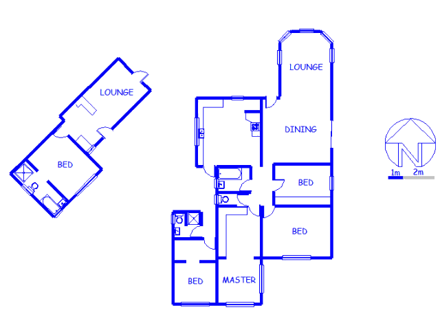Floor plan of the property in Newfields