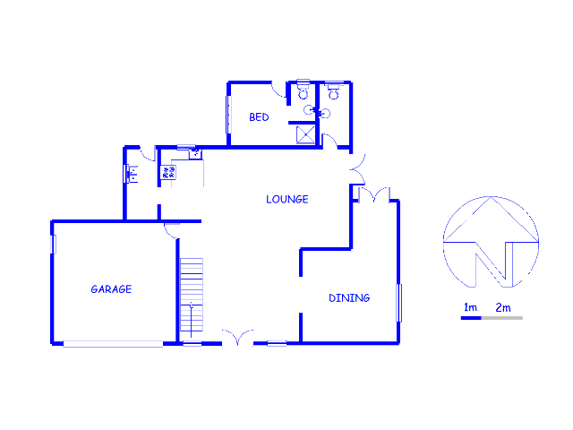 Floor plan of the property in Rua Vista