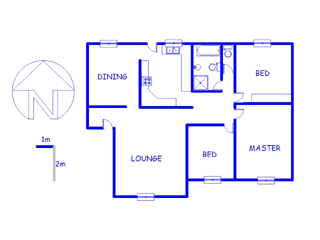 Floor plan of the property in Roodepoort West
