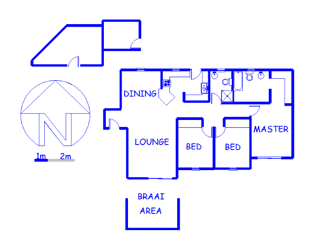 Floor plan of the property in Bromhof