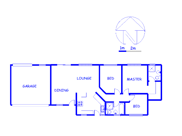Floor plan of the property in Heuweloord