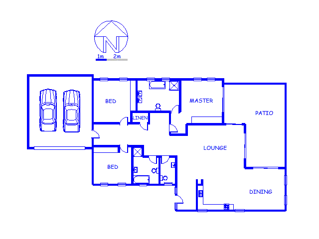 Floor plan of the property in Piketberg