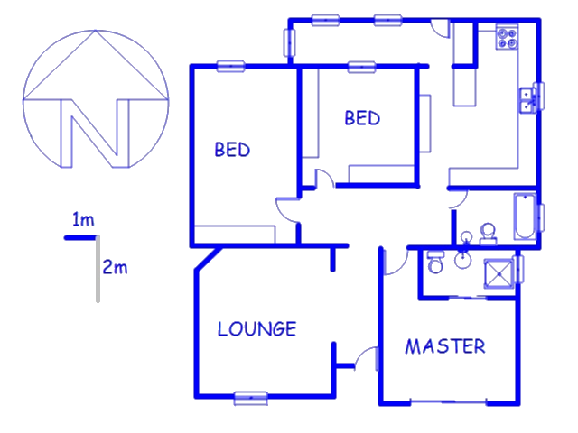 Floor plan of the property in Mayfair West
