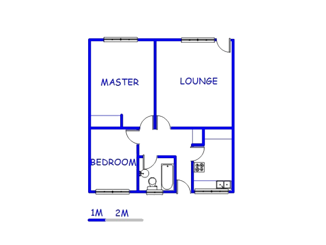 Floor plan of the property in Forest Hill - JHB