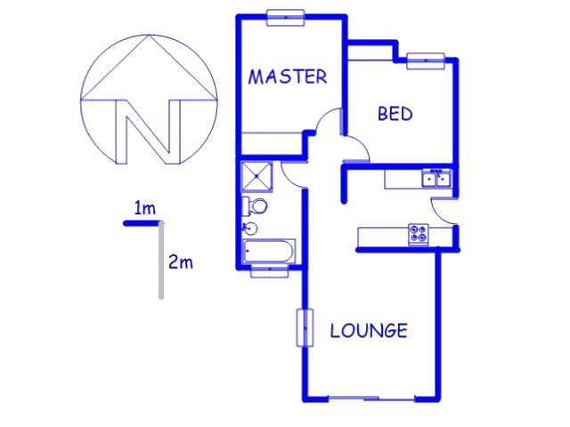 Floor plan of the property in Ormonde