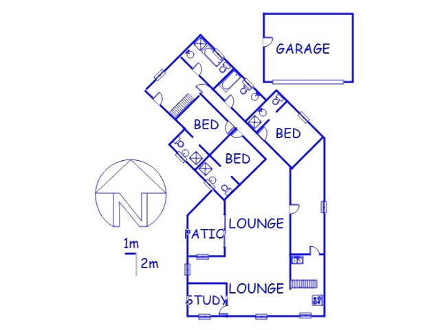 Floor plan of the property in Gansbaai