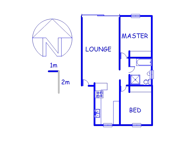 Floor plan of the property in Auckland Park