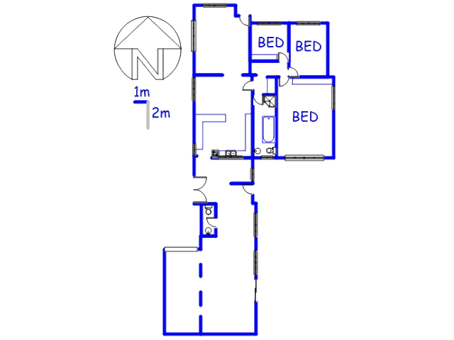 Floor plan of the property in Parrow Valley