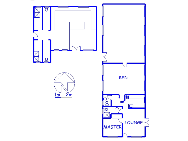 Floor plan of the property in Drummond