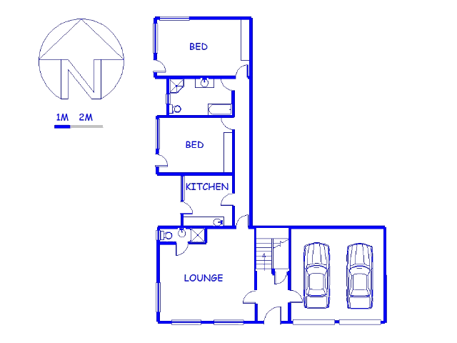 Floor plan of the property in Wilderness