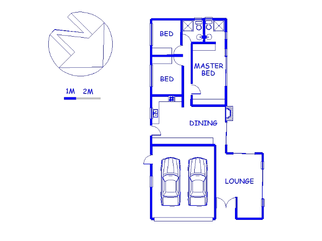 Floor plan of the property in Klein-Brakrivier