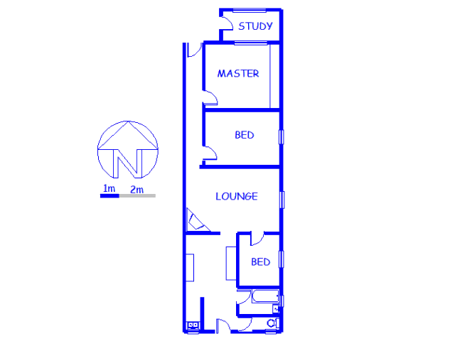 Floor plan of the property in Walmer Estate