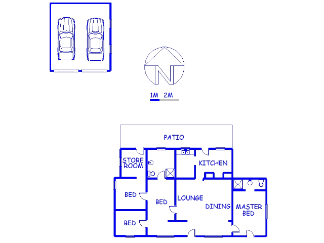 Floor plan of the property in Uniondale