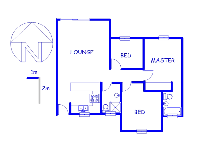 Floor plan of the property in Lone Hill