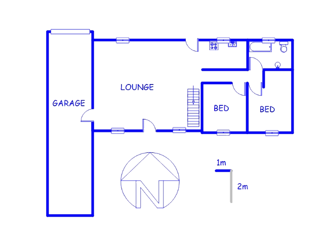 Floor plan of the property in Vaalmarina