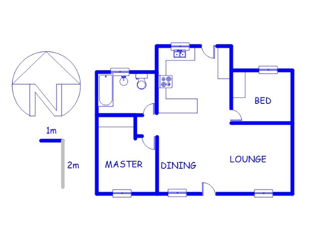 Floor plan of the property in Weltevreden Park