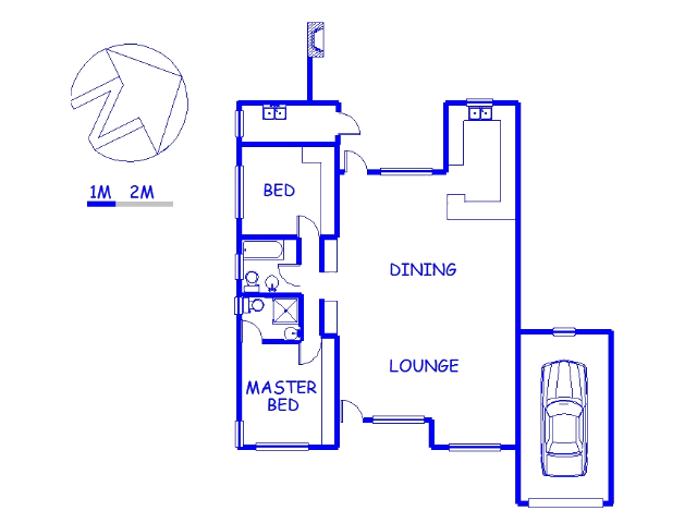 Floor plan of the property in Hartenbos