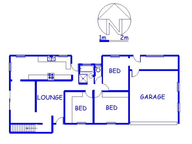 Floor plan of the property in Lotus Park