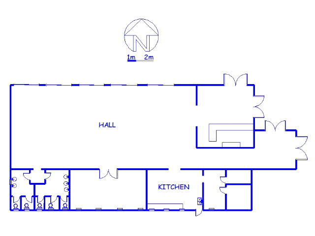 Floor plan of the property in Vryheid