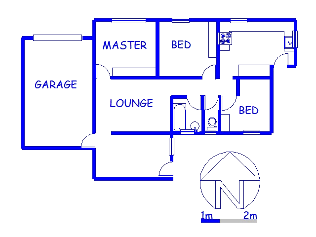Floor plan of the property in Mariann Heights